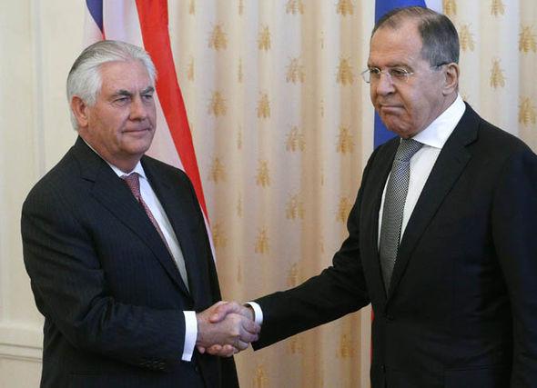 Rex Tillerson and Sergei Lavrov