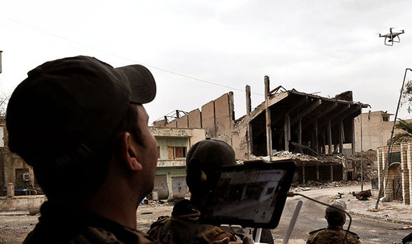 Drone bombs used by Iraqi forces