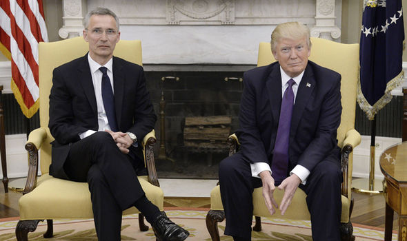 Trump and Nato Secretary General, Jens Stoltenberg