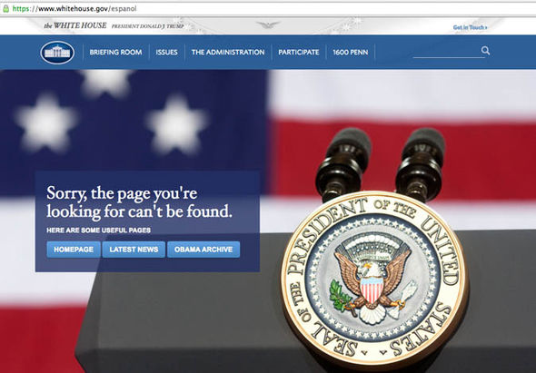 The Spanish White House website