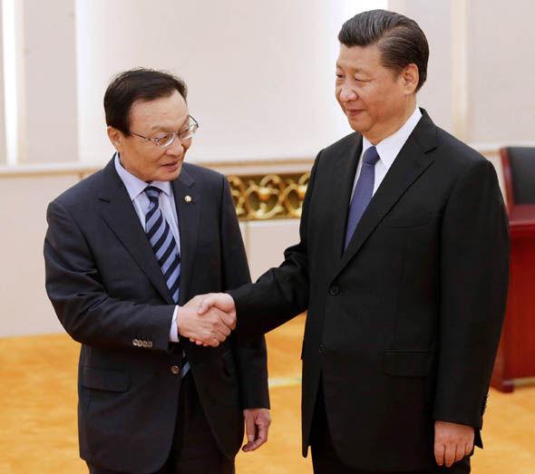 Xi Jinping welcomes Lee Hae-chan
