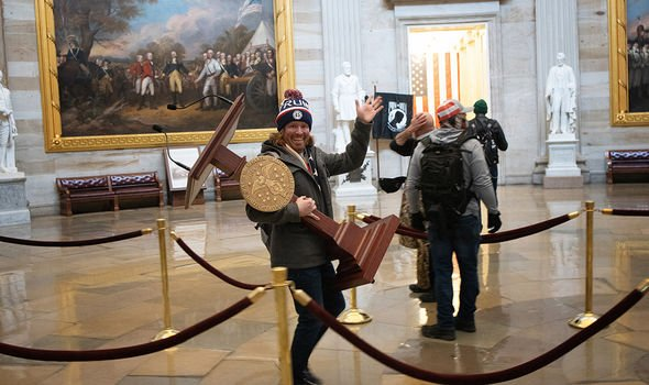 Protesters in the Capitol