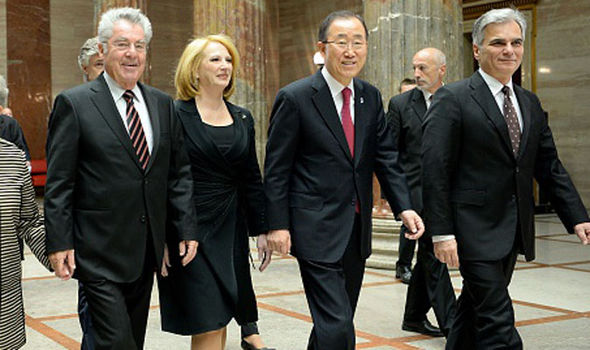 Ban Ki-Moon with the Austrian president