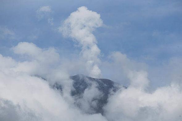 Bali volcano update: Steam rising from Mount Agung