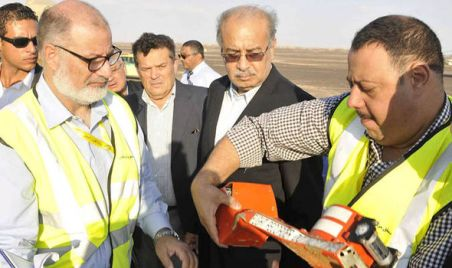 The Prime Minister is shown the plane's black box recorder