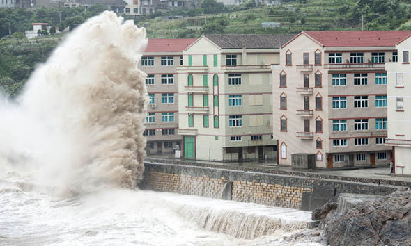 china typhoon weather sea erosion
