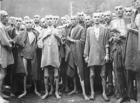 Jews inside a concentration camp in Germany
