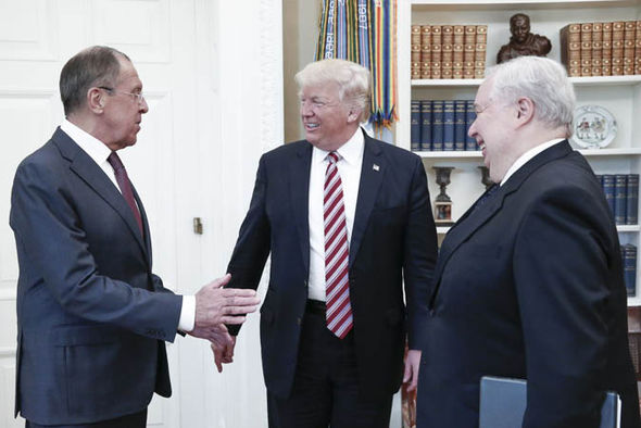 Donald Trump with Russian diplomats