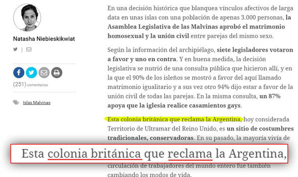 Article in Clarin