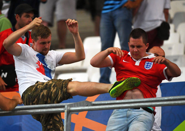 england fan is kicked