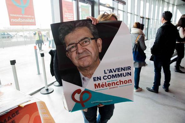 campaigner for Jean-Luc Mélenchon