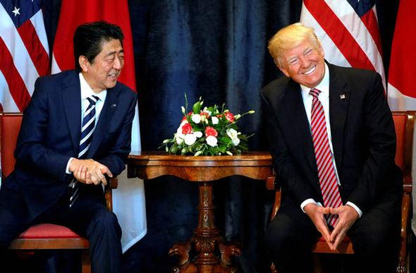 Trump met Japanese Prime Minister Shinzo Abe