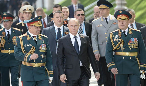 Image result for small picture of putin and his generals