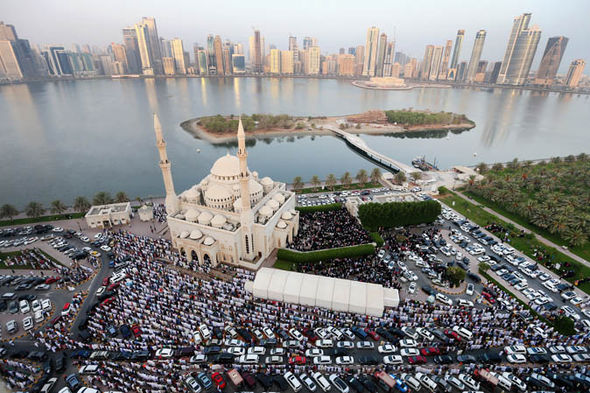 The city of Sharjah in the United Arab Emirate
