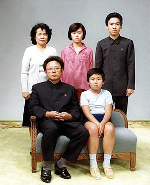 Kim Jong Nam in a family photo in his youth