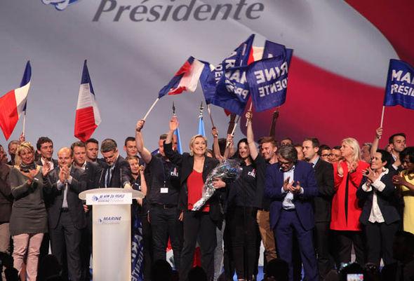 Marine Le Pen supporters