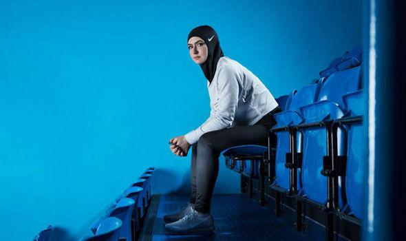 muslim athlete wearing hijab