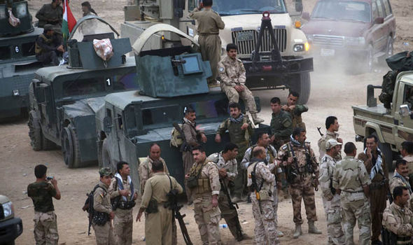 Peshmerga forces mass for an assault on ISIS