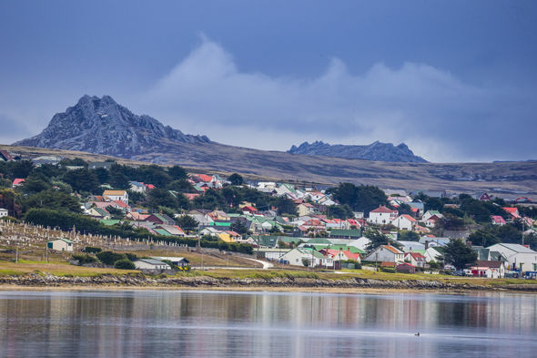 Port Stanley on the Falkland Islands