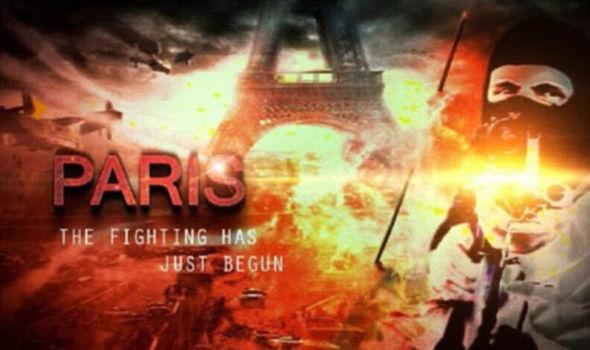 Una captura de pantalla del video de ISIS