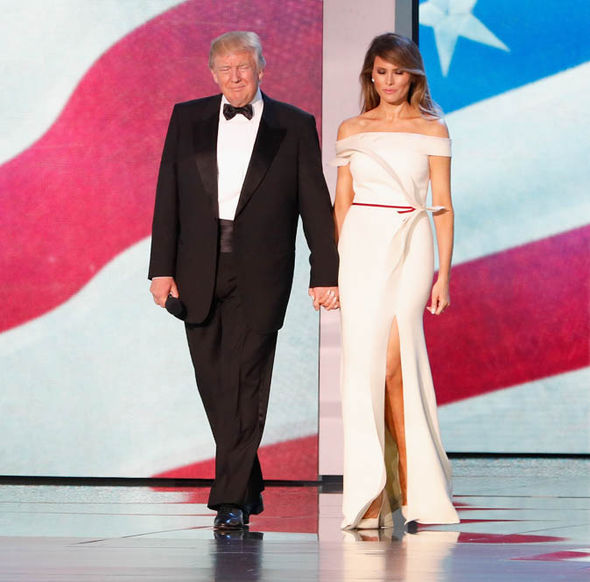 Donald and Melania Trump at inauguration ball
