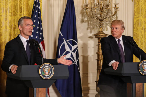 Donald Trump hosted Nato Secretary General Jens Stoltenberg
