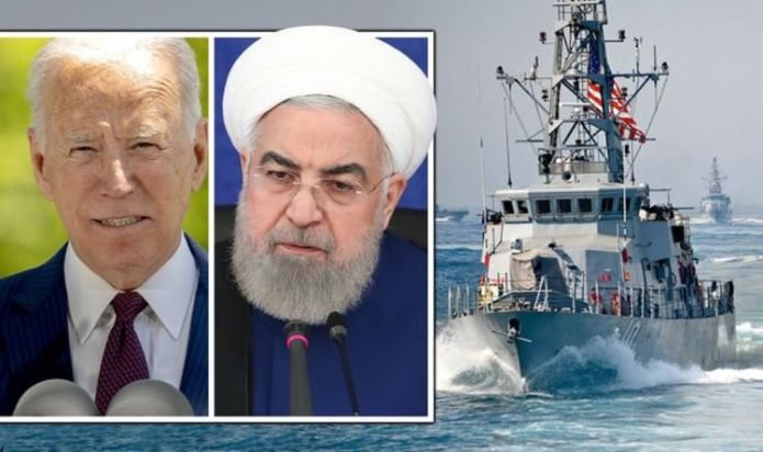 US Navy fires warning shots at Iranian vessels - Ships 68-yards from devastating collision