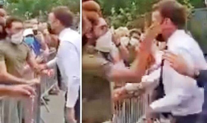 Emmanuel Macron slapped as he greets bystanders on latest outing ahead of G7 visit to UK