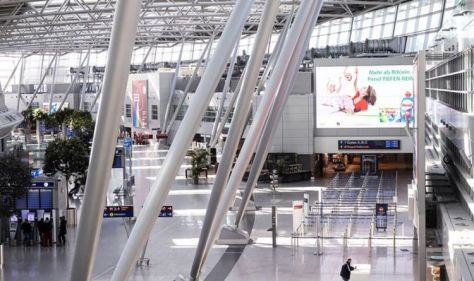 Dusseldorf Airport attack: Knifeman on run after stabbing - manhunt underway