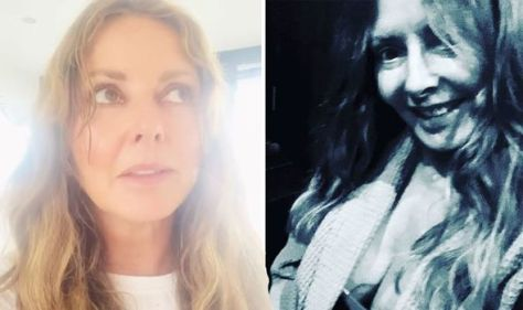 Carol Vorderman, 60, suffers photo 'fail' with cleavage-baring selfie in chilly conditions