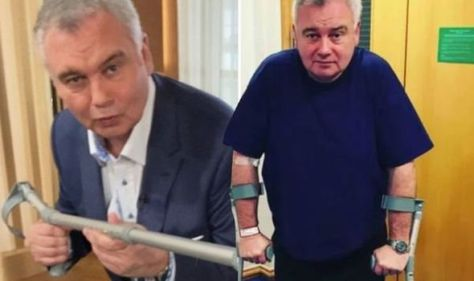Eamonn Holmes talks behind-the-struggles without crutch as he admits schedule is 'tough'