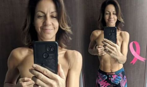 'Going for my last walk with these boobs' Julia Bradbury takes topless snap pre cancer op