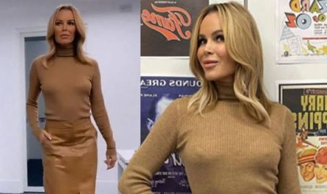 Amanda Holden, 50, sends fans wild as she appears to go braless in eye-popping display