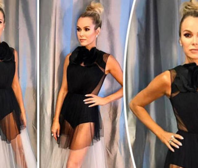Amanda Holden Shows Off Her Endless Pins In A Sheer Gown
