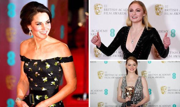 BAFTAs: Kate Middleton, Sophie Turner, Emma Stone