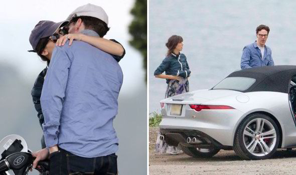 Benedict Cumberbatch and his new wife shared a kiss during a romantic roadtrip last week