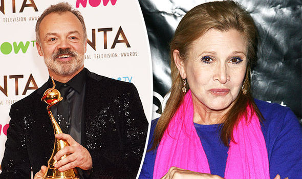 Graham Norton pays tribute to Carrie Fisher