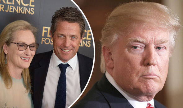Hugh Grant has defended Meryl Streep against Donald Trump's comments