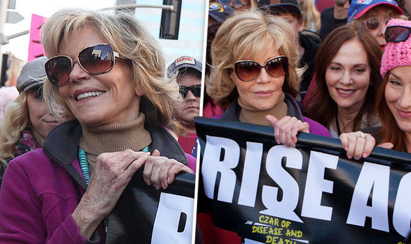 Jane Fonda at the Los Angeles' Women's March