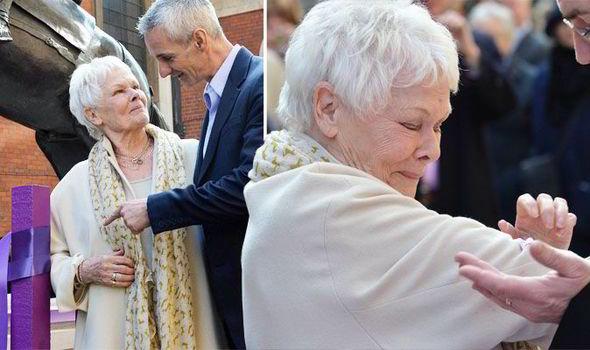 Dame Judi Dench Falls Victim To Wet Paint Celebrity News