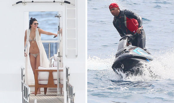Kendall Jenner And Model Friends Join Lewis Hamilton On