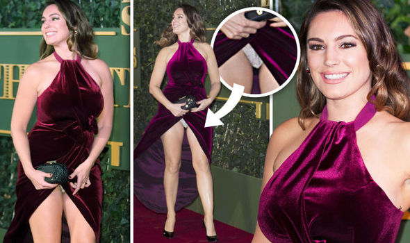 Kelly Brook Left Red Faced After FLASHING Her Underwear In
