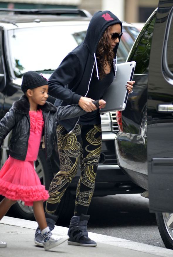 Mel B, Eddie Murphy, daughter, Angel, rushed to hospital, suspected heart murmur, nosebleed