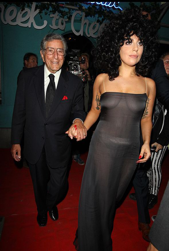 Lady Gaga Shows Off Ample Assets Underneath Revealing See