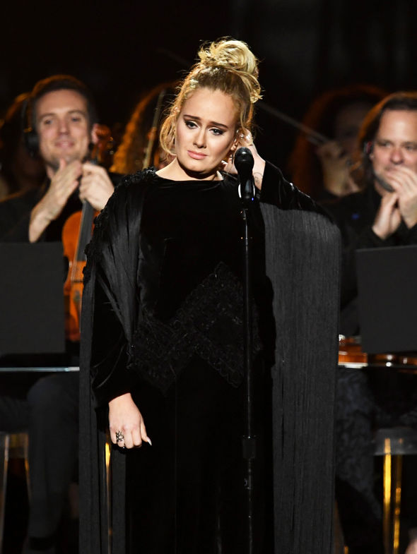 Adele was overcome with emotion after performing