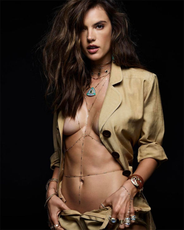 Alessandra Ambrosio topless braless naked Jacquie Aiche