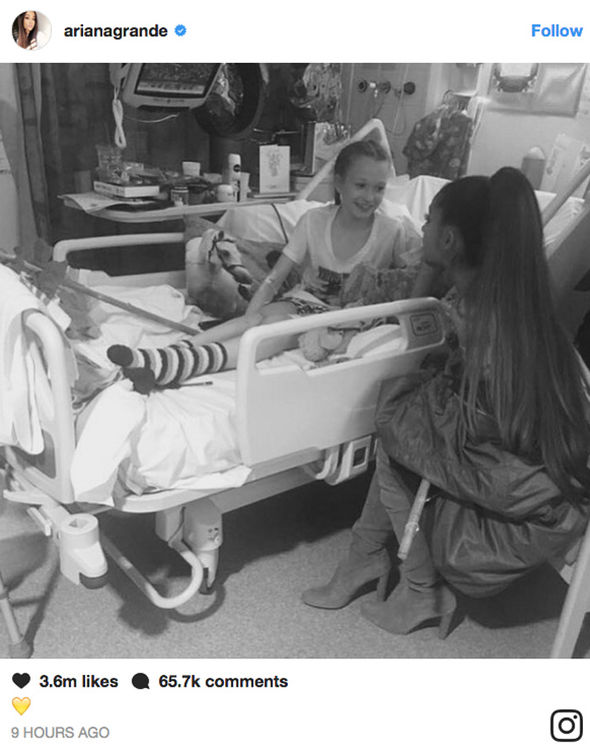 Ariana Grande posts Instagram from Manchester hospital