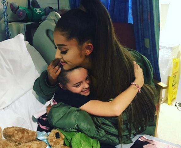 Ariana Grande visits Jaden Mann