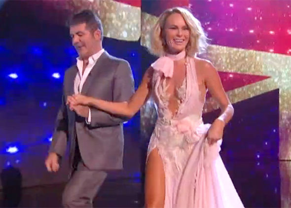 Britain's Got Talent 2017 Amanda Holden dress cleavage slip Instagram