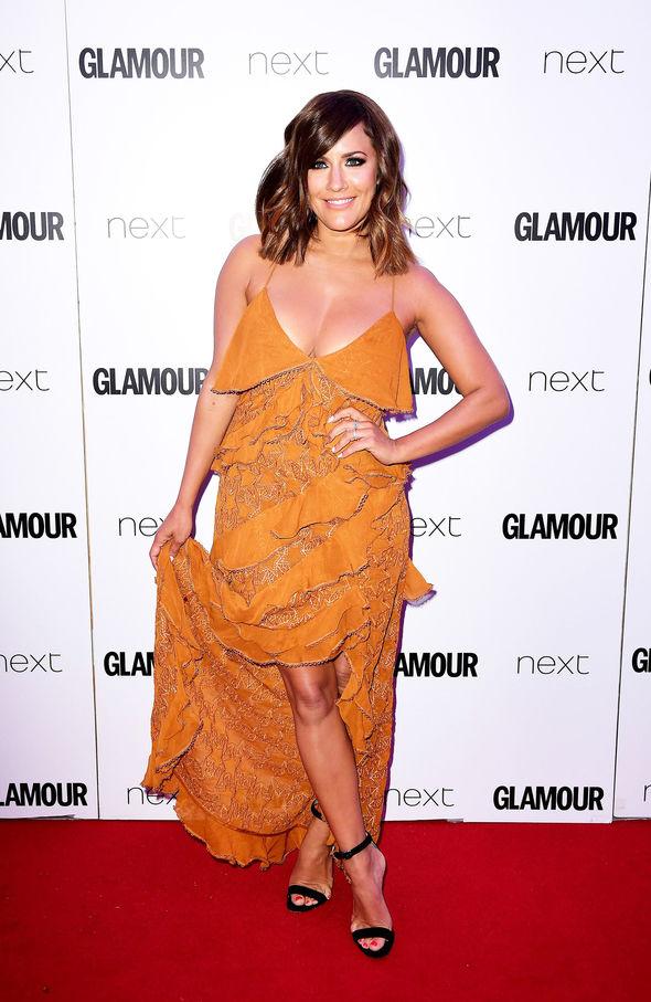 Caroline Flack flaunted major cleavage